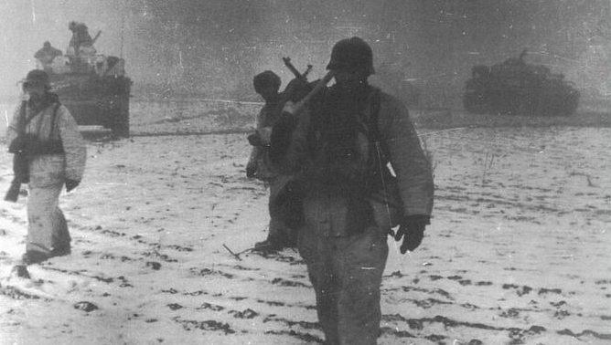 Немецкие войска в «Черкасском котле». Январь 1944 г.