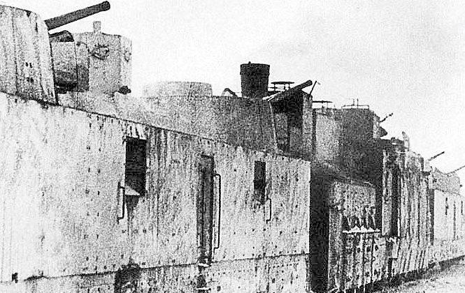 Бронепоезд «За Родину!» уходит на фронт. Апрель 1942 г.
