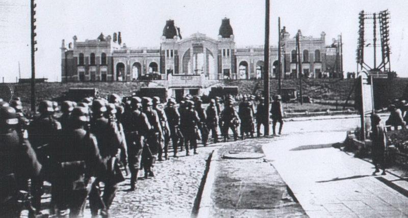 Немцы у Ковельского вокзала. 1943 г.