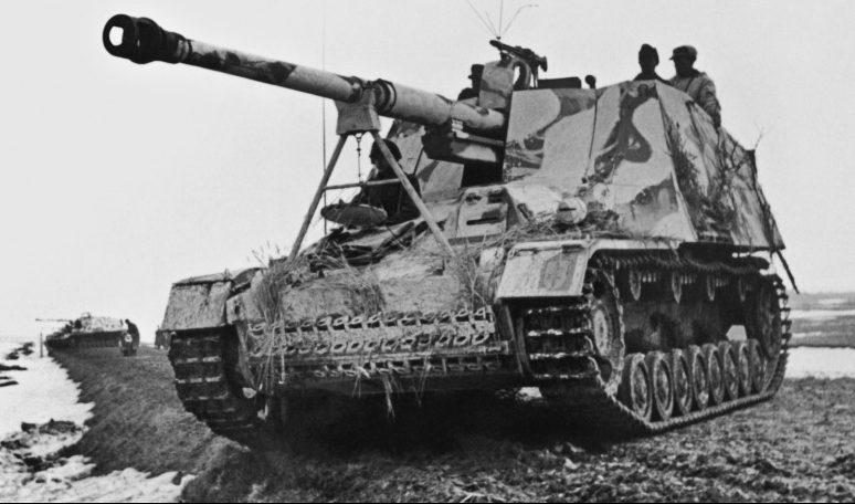 Истребители танков «Насхорн» в районе Каменец-Подольска. Март 1944 г.