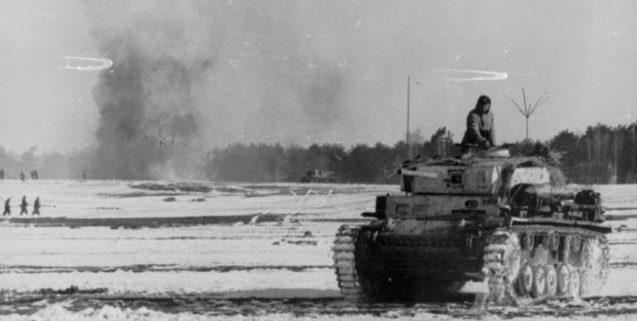 Немецкие войска в окруженном Ковеле. Февраль 1944 г.