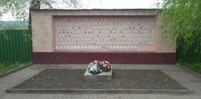 с. Оскольское Новооскольского р-на. Памятник воинам-землякам, погибшим в годы войны.
