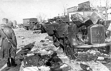 Брошенная немецкая техника в «Черкасском котле». Февраль 1944 г.