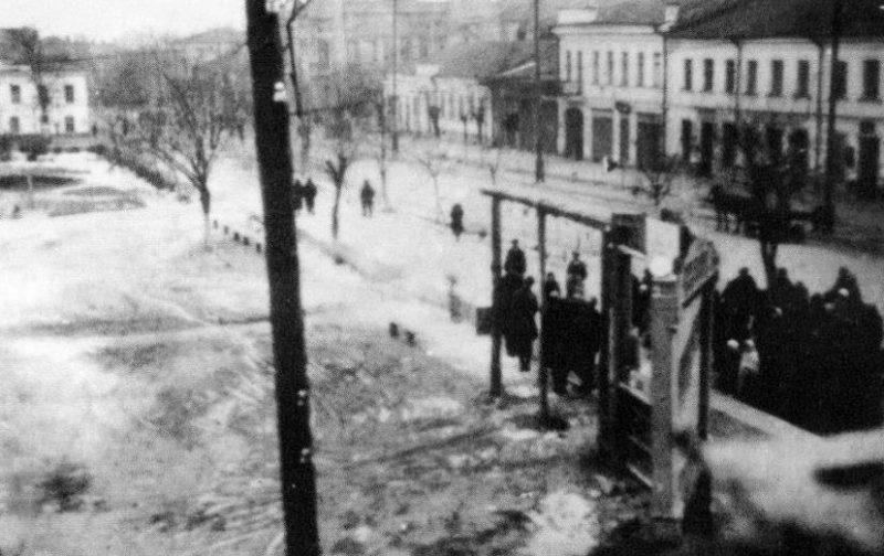 Казнь подпольщиков. Январь 1942 г.