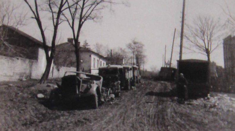 Разбитая немецкая техника. Март 1944 г.
