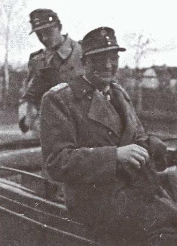 Группенфюрер СС Отто Гилле - командир гарнизона Ковеля. 16 марта 1944 г.