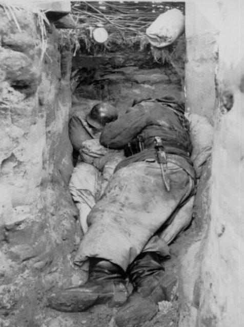 Немецкие окопы. Апрель 1944 г.