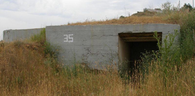 Артиллерийский ДОТ №35 у поселка «Вязовая Роща» под 100-мм орудие Б-24 ПЛ.