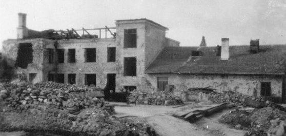 Руины хлебзавода. 1944 г.
