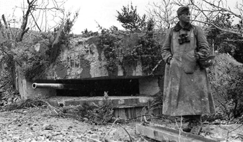 Артиллерийский ДОТ №65 у села Терновка под 76-мм орудие 9-К.