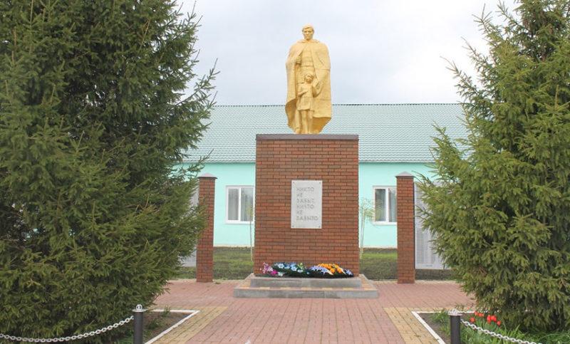 с. Дмитриевка Ракитянского р-на. Памятник погибшим в годы войны воинам-землякам.