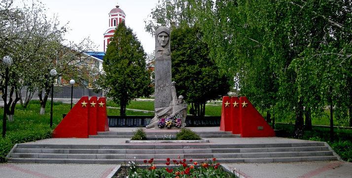 с. Чураево Шебекинского городского округа. Памятник воинам землякам.