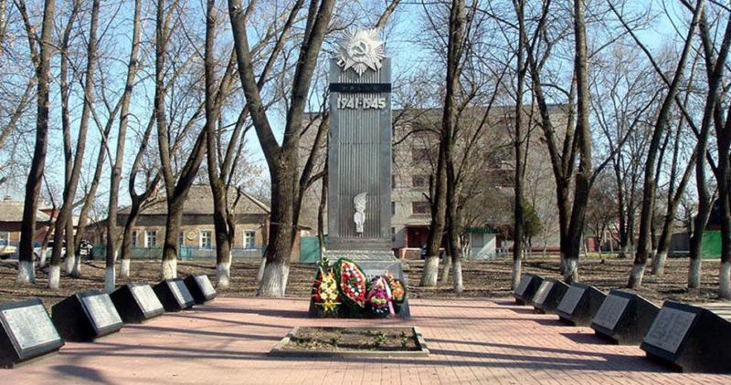 г. Шебекино Памятник по улице Крупской в честь погибших машиностроителей в годы войны.