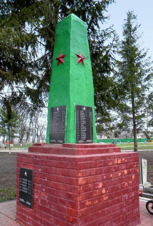с. Гостищево Яковлевского городского округа. Памятник по улице Советской, установленный на братской могиле, в которой похоронено 62 советских воина, погибших в 1943 году.