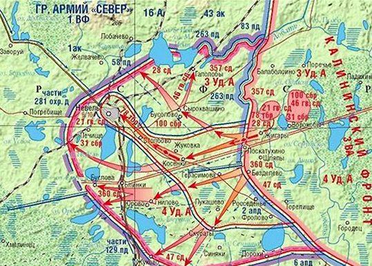 Карта-схема Невельской наступательной операции.