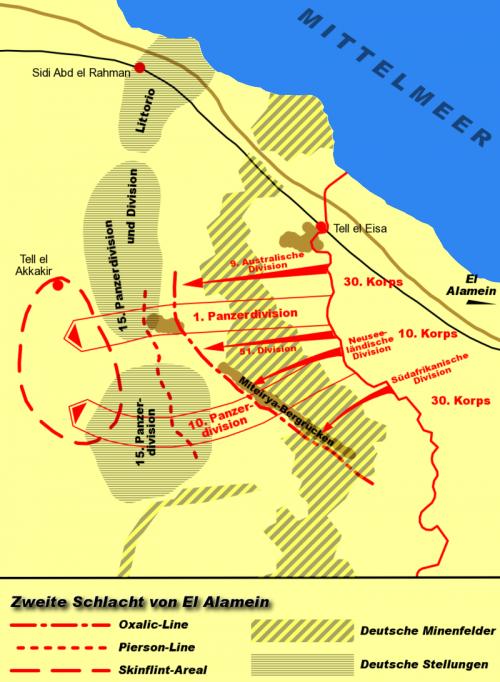 Боевые действия под Эль-Аламейном.