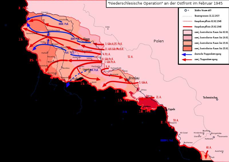 Карта-схема Нижне-Силезской операции.
