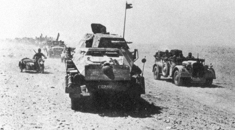 Немецкие войска в Ливии.