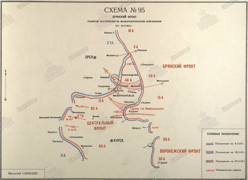 Карта-схема Малоархангельской операции.