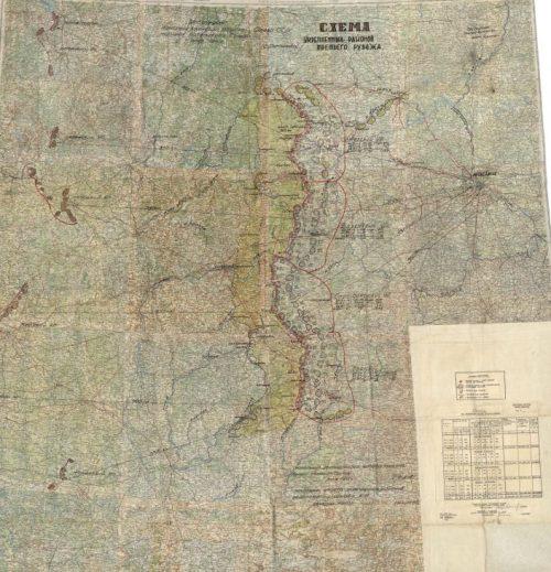 Схема укрепленных районов третьего рубежа.
