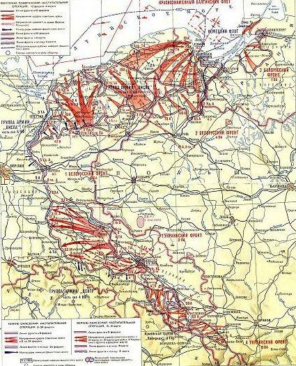 Карта боевых действий в Силезии.