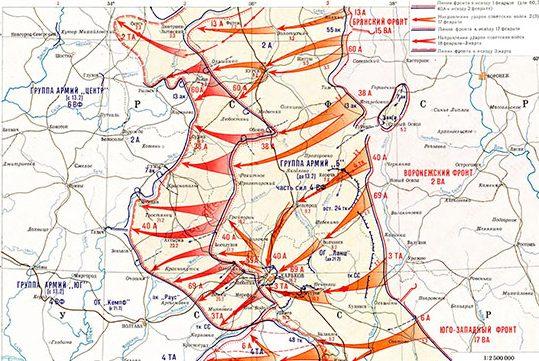 Карта-схема Харьковской наступательной операции.