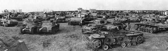 Танковое кладбище «трофейщиков».