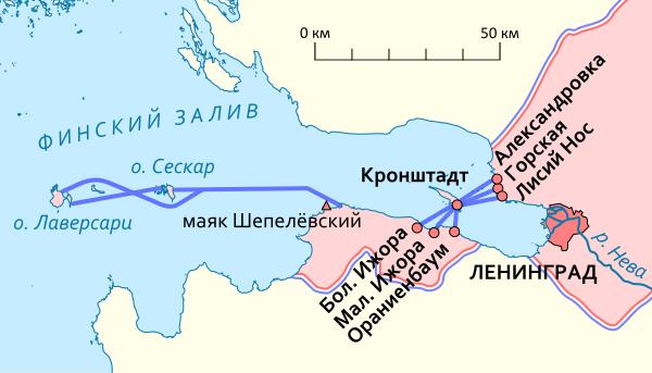 Схема-карта «Малой дороги жизни».