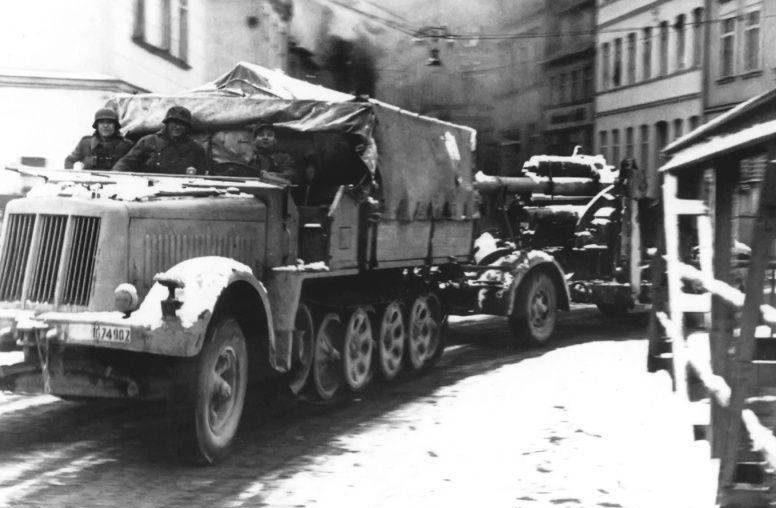 Немецкие войска в Штеттине.