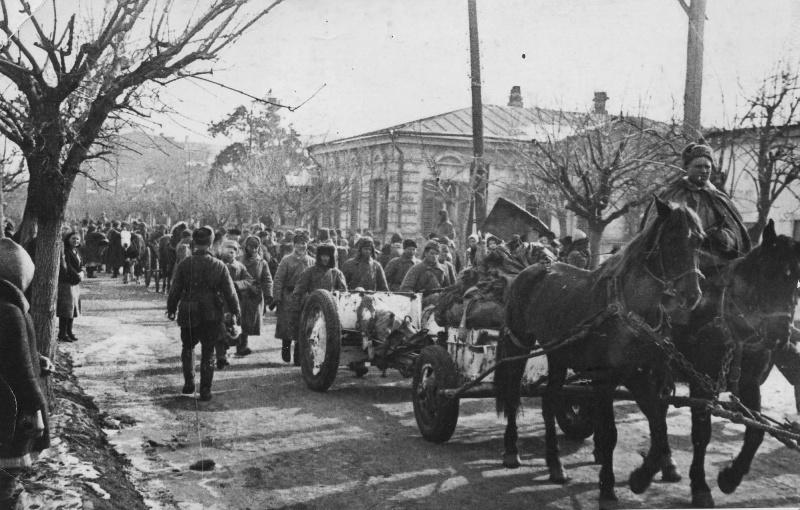 Красная Армия входит в Краснодар.