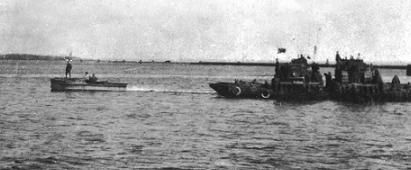 Корабли Балтийского флота во время операции.