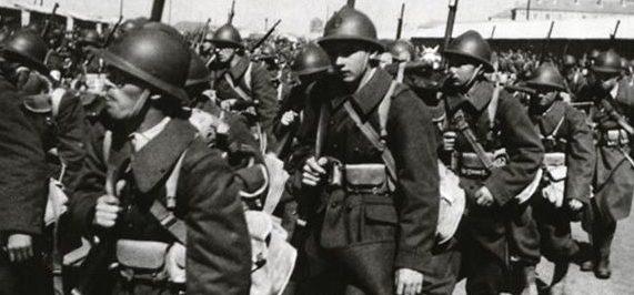Французские солдаты Армии Виши.
