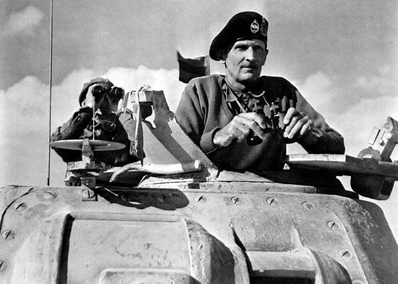 Генерал Монтгомери в Северной Африке.