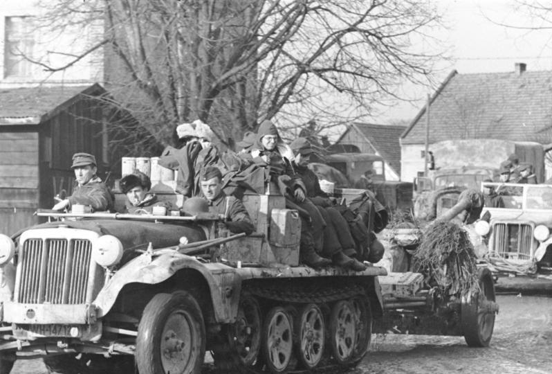 Немецкие войска у Бреслау.