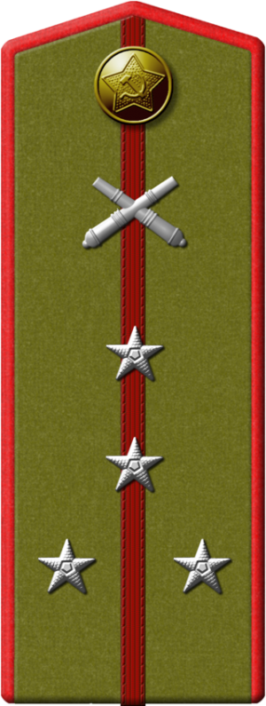 Полевой погон капитана артиллериста.