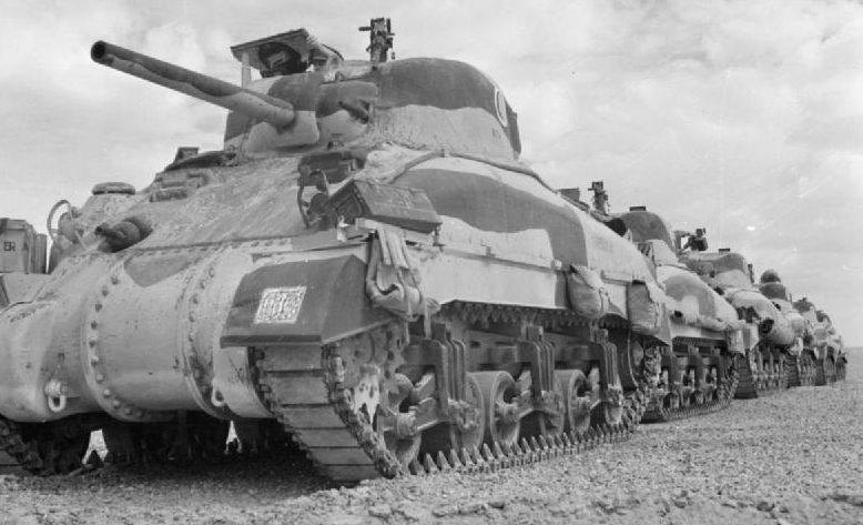 1-я бронетанковая дивизия в Эль-Аламейне.