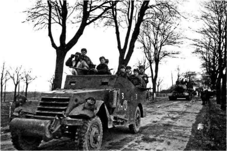 Наступление Красной Армии в районе Штеттина.