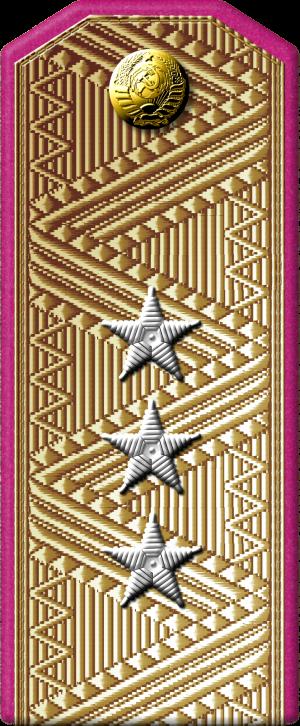 Повседневный погон генерал-полковника технических войск.
