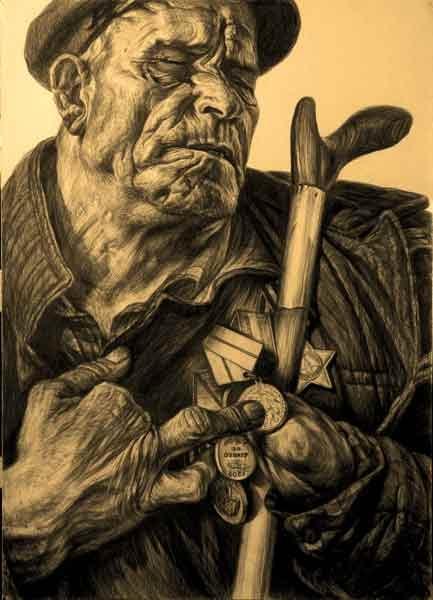 «Рассказ о медалях. Там был ад». Иван Забара показывает свою медаль «За оборону Сталинграда». Бахчисарай, 1975 г.