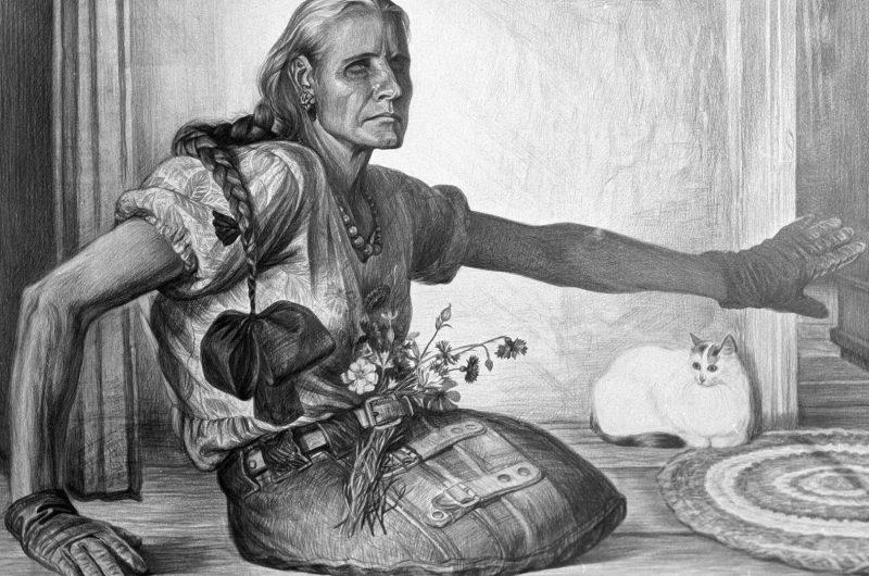 «Возвращение с прогулки. Портрет Валентины Коваль. Омская область.