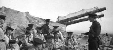 Моряки с гарнизона батареи №10. 1942 г.