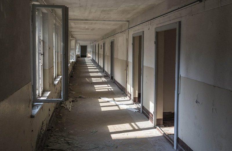 Общий коридор одного из жилых блоков.