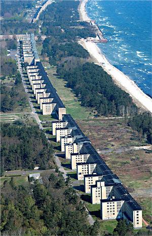 Вид на блоки санатория с высоты.