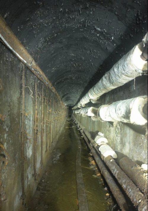 Подземные сооружения батареи.