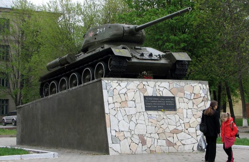 г. Тула. Памятник воинам 32-й танковой бригады.