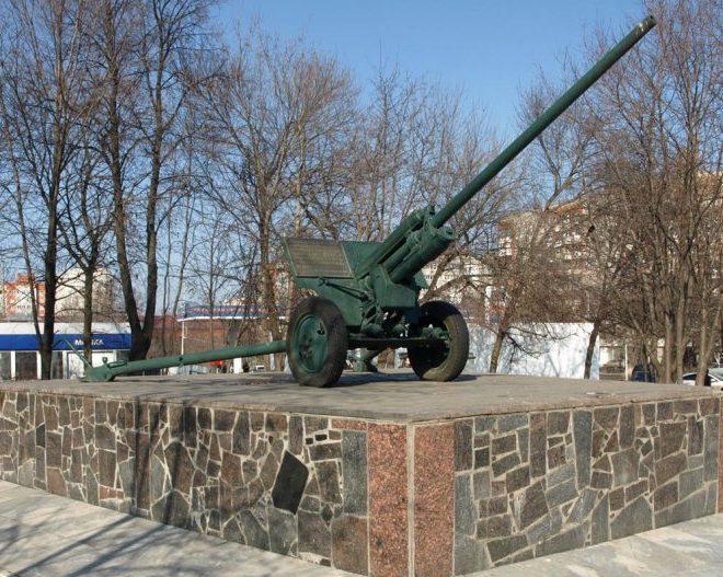 г. Тула. Памятник «Пушка ЗИС-3», установленная по улице Староникитская 110.
