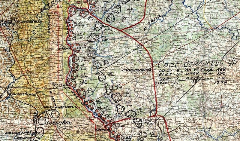 Схема расположения сооружений Спас-Деменского УРа.