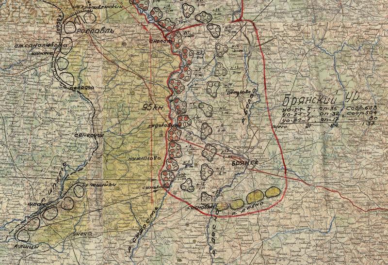 Схема расположения сооружений Брянского УРа.