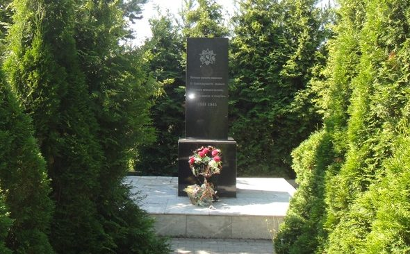 г. Тула. Памятный знак в честь воинов, погибших в годы войны, установленный на Октябрьском проезде.
