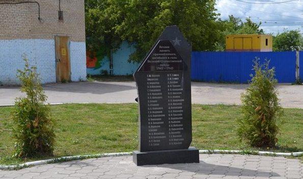 г. Тула. Памятник трамвайщикам, погибшим в годы войны, установленный по улице Приупской 1б.